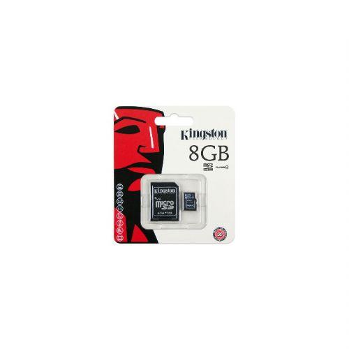 Cartão De Memória MicroSd 8GB 1 Adaptador Kingston SDC4/8GB