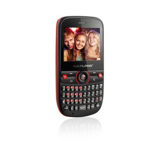 TELEFONE  CELULAR MULTILASER STAR 4S 4CHIP P3193 PRETO E VERMELHO