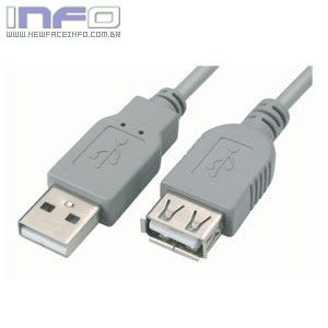 CABO EXTENSOR USB MACHO X FEMEA 3.00 M V2.0