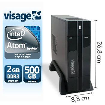 VISAGE PC BLANC D525 - 125 PDV (ATOM D525 / 2GB RAM / HD 500GB / LINUX)