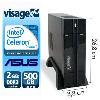 VISAGE PC BLANC 847 - 125A PDV  (CELERON 847 / 2GB RAM / HD 500GB / MB ASUS / LINUX)