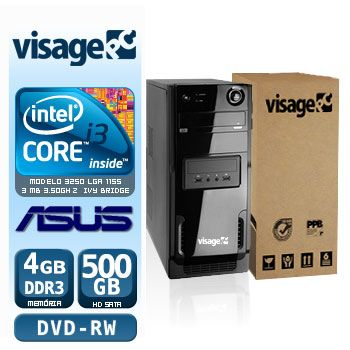 VISAGE PC BLEU I3 3250 - 245AD (CORE I3 3250 / 4GB / 500GB / MB ASUS / DVD-RW / LINUX)