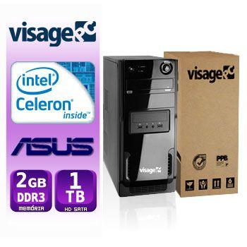 VISAGE PC BLEU CEL 847 - 221TA (CELERON / 2GB RAM / HD 1TB / MB ASUS / LINUX)