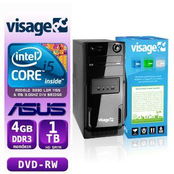 VISAGE PC BLEU I5 3330 - 441TAD (CORE I5 3330 / 4GB RAM / HD 1TB / DVD-RW / MB ASUS / LINUX)