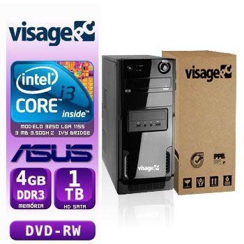 VISAGE PC BLEU I3 3250 - 241TAD (CORE I3 3250 / 4GB RAM / HD 1TB / DVD-RW / MB ASUS / LINUX)