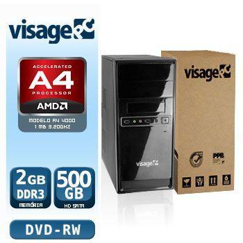 VISAGE PC VERT A4 4000 - 225RD (AMD A4 4000 / 2GB RAM / HD 500GB / DVD-RW / LINUX)