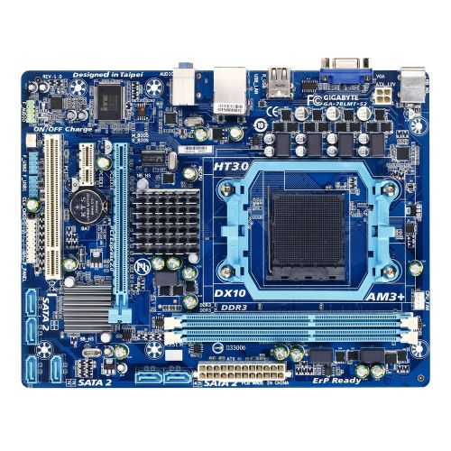 (M940) Placa Mãe AM3+ GIGABYTE GA-78LMT-S2 (2x DDR3 / 1x PCI-e x16 / 1x PCI-e x1 / 1x PCI / 1x VGA / 4x USB 2.0 / 2x PS2 )