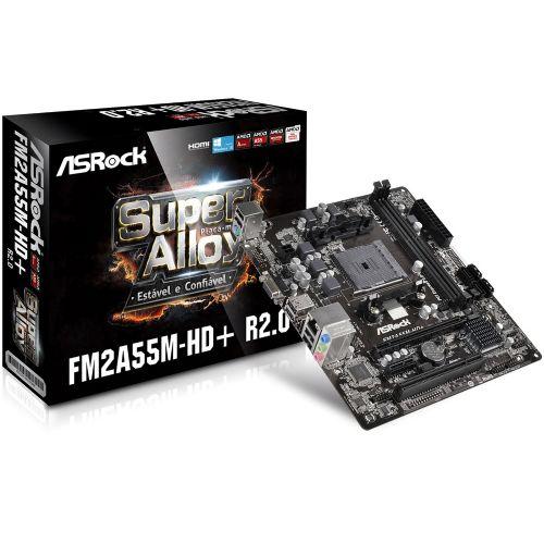 M904 Placa Mãe FM2/FM2+ Asrock FM2A55M-HD+ R2.0 ( 2x DDR3 / 1x PCIe 3.0 x16 / 1x PCIe 2.0 x1 / 1x PCI / 4x Sata2 / 2x USB 2.0 / 1x VGA / 1x HDMI )