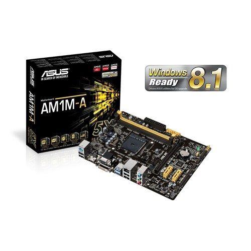 M721 Placa Mãe AM1 Asus AM1M-A/BR ( 2x DDR3 / 1x PCIe 2.0 x16 / 2x PCIe 2.0 x1 / 2x Sata3 / 2x USB 3.0 / 4x USB 2.0 / 1x HDMI / 1x DVI )