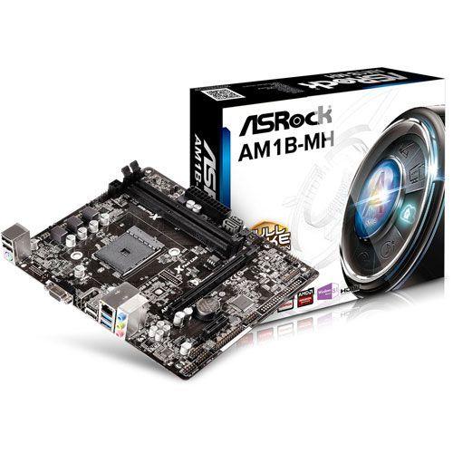M721 Placa Mãe AM1 Asrock AM1B-MH ( 2x DDR3 / 1x PCIe 2.0 x16 / 1x PCIe 2.0 x1 / 2x Sata3 / 2x USB 3.0 / 4x USB 2.0 )