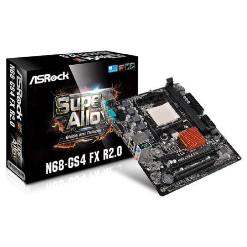 M940 Placa Mãe AM3+ ASRock N68-GS4 FX R2.0 125w (S/V/R) ( 1x D-SUB / 1x SERIAL / 2x DDR3 / 1x PCI-e x16 / 1x PCI-e x1 / 1x PCI / 2x PS2 / 4x USB 2.0 )