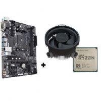 M1331 Placa Mãe AM4 Gigabyte A320M-S2H DDR4 com Processador AMD Ryzen 3 2200G ( 2x DDR4 / 1x PCIe x16 / 2x PCIe x1 / 4x USB 3.0 / 2x USB 2.0 / 1x VGA / 1x DVI/ 1x HDMI / 2x PS2 / RAID )