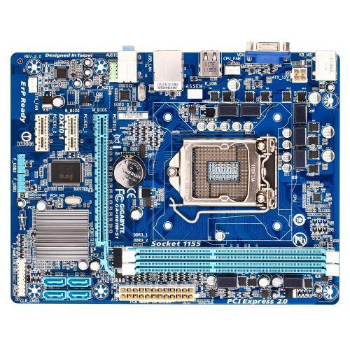 M1155 Placa Mãe LGA1155 Gigabyte GA-H61M-S1 ( 2x DDR3 / 1x PCIe 3.0 x16 / 2x PCIe 2.0 x1 / 4x Sata2 / 4x USB 2.0 )