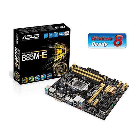M1150 Placa Mãe LGA1150 ASUS B85M-E/BR ( 4x DDR3 / 1x PCIe 2.0 x16 / 1x PCIe 2.0 x4 / 1x PCIe 2.0 x1 / 1x PCI / 2x Sata2 / 4x Sata3 / 2x USB 3.0 / 4x USB 2.0 / 1x DVI / 1x HDMI / 1x DisplayPort  )