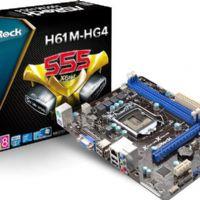 M1155 Placa Mãe LGA1155 Asrock H61M-HG4 ( 2x DDR3 / 1x PCIe 3.0 x16 / 1x PCIe 2.0 x1 / 4x Sata3 /  / 4x USB 2.0 / 1x HDMI )