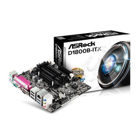 M1800 Placa Mãe com Processador Intel J1800 Integrado Asrock D1800B-ITX M-ITX (2x DDR3/DDR3L / 1x PCI-E 2.0 x1 / 2x Sata2 3.0 Gb/s / 1x USB 3.0 / 3x USB 2.0 / 1x HDMI / 1x VGA / 1x Serial / 1x Paralela )