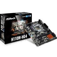 M1151 Placa Mãe LGA1151 ASRock H110M-HG4 DDR4 (2x DDR4 / 1x PCIe x16 / 2x PCIe x1 / 2x USB 3.0 / 4x USB 2.0 / 1x VGA / 1x HDMI / 1x PS2)