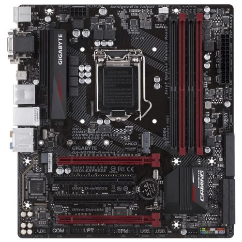 M1151 Placa Mãe LGA1151 Gigabyte GA-H270M-GAMING 3 DDR4 (4x DDR4 / 2x PCIe x16 / 2x PCI / 4x USB 3.0 / 2x USB 2.0 / 1x VGA / 1x HDMI / 1x DVI / 1x PS2)