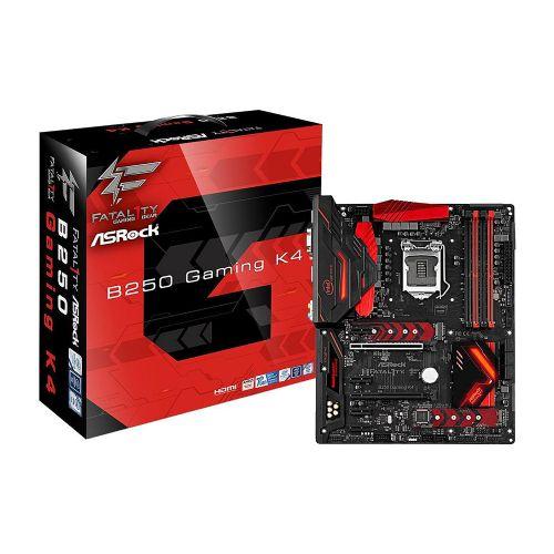 M1151 Placa Mãe LGA1151 ASRock FATAL1TY B250 K4 GAMING DDR4 (4x DDR4 / 4x PCIe x1 / 2x PCIe x16 / 3x USB 3.0 / 2x USB 2.0 / 1x HDMI / 1x VGA / 1x DVI / 1x PS2)