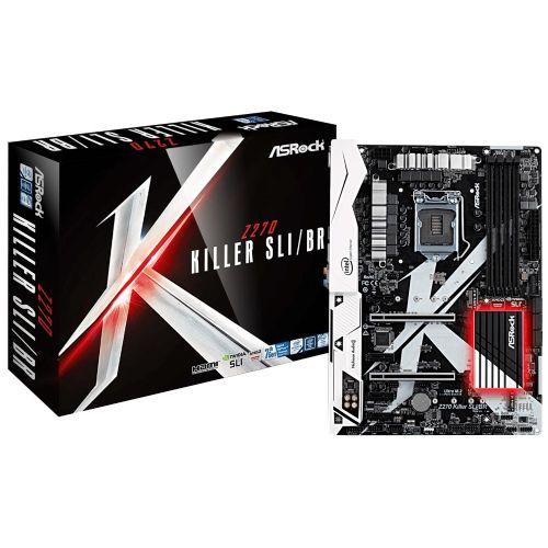 M1151 Placa Mãe LGA1151 ASRock Z270 KILLER SLI/BR (4x DDR4 / 4x PCIe x1 / 2x PCIe x16 / 5x USB 3.0 / 1x HDMI / 1x VGA / 1x PS2)