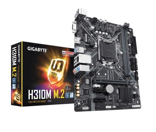 M1151 Placa Mãe LGA1151 GIGABYTE H310M M.2 DDR4 (2x DDR4 / 1x PCIe 3.0 x16 / 2x PCIe 2.0 x1 / 2x USB 3.1 / 4x USB 2.0 / 1x M.2 / 1x VGA / 1x HDMI / 1x PS2 )