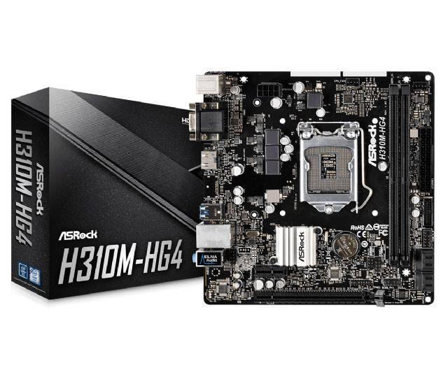 M1151 Placa Mãe LGA1151 ASROCK H310M-HG4 DDR4 (2x DDR4 / 1x PCIe 3.0 x16 / 2x PCIe 2.0 x1 / 2x USB 3.1 / 4x USB 2.0 / 1x VGA / 1x HDMI / 1x PS2 )