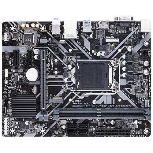 M1151 Placa Mãe LGA1151 Gigabyte H310M M.2 2.0 DDR4 ( 2x DDR4 / 1x PCIe 3.0 x16 / 2x PCIe 2.0 x1 / 1x M.2 / 2x USB 3.1 / 4x USB 2.0 / 1x HDMI / 1x VGA / 1x PS2 )