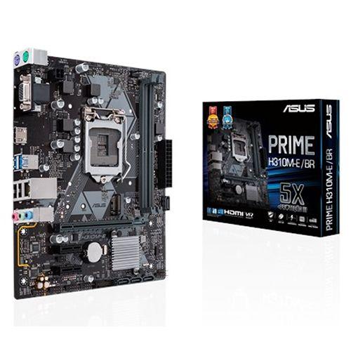M1151 Placa Mãe LGA1151 Asus PRIME H310M-E R2.0/BR DDR4 ( 2x DDR4 / 1x PCIe 3.0 x16 / 2x PCIe 3.0 x1 / 1x M.2 / 2x USB 3.0 / 2x USB 2.0 / 1x HDMI / 1x VGA / 2x PS2 )