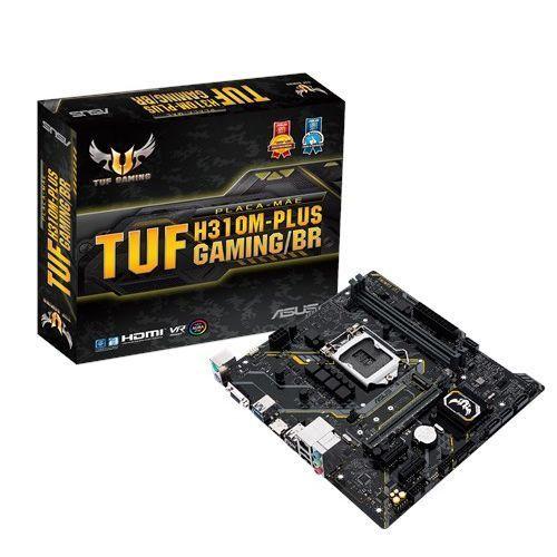 M1151 Placa Mãe LGA1151 Asus TUF H310M-PLUS GAMING/BR DDR4 ( 2x DDR4 / 1x PCIe 3.0 x16 / 2x PCIe 3.0 x1 / 1x M.2 / 1x USB 3.0 / 4x USB 2.0 / 1x HDMI / 1x VGA / 2x PS2 )