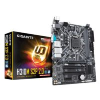 M1151 Placa Mãe LGA1151 Gigabyte GA-H310M S2P 2.0 DDR4 (2x DDR4 / 2x PCI /  1x PCIe 3.0 x16 / 1x PCIe 2.0 x1 / 2x USB 3.0 / 4x USB 2.0 / 1x VGA / 1x DVI / 1x SERIAL / 1x HDMI / 1x PS2)