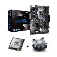 M1150 Placa Mãe LGA1150 ASRock H81M-HG4 com Processador Intel Core I5 4570 OEM + Cooler