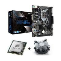 M1150 Placa Mãe LGA1150 ASRock H81M-HG4 com Processador Intel Core I3 4130 OEM + Cooler