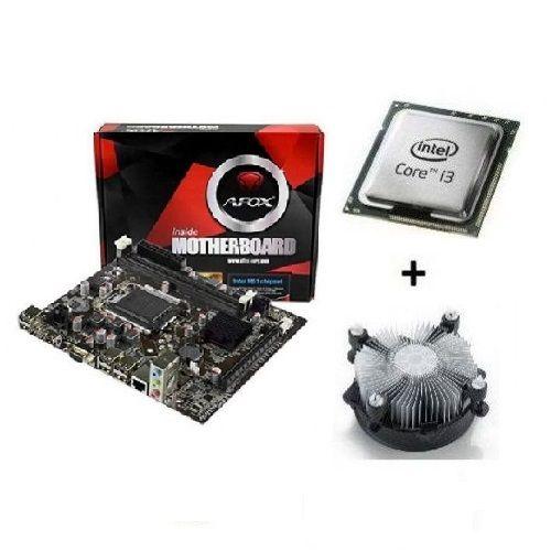 M1155 Placa Mãe AFOX IH61-MA5 com Processador Core I3 3220 OEM + Cooler