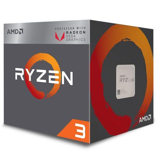 P1331 Processador AMD RYZEN 3 2200G 3.5GHz 6MB com Wraith Stealth Cooler / Radeon VEGA 8 / AM4 / 65W (YD2200C5FBBOX)