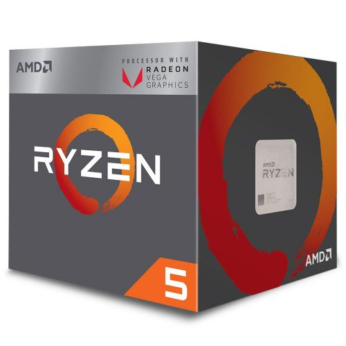 P1331 Processador AMD RYZEN 5 2400G 3.6GHz 6MB com Wraith Stealth Cooler / Radeon VEGA 11 / AM4 /  65W (YD2400C5FBBOX)