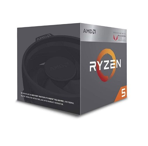 P1331-3 Processador AMD RYZEN 5 3400G 3.7GHz 6M com Wraith Spire Cooler / Radeon RX VEGA 11 / AM4 / 65W (YD3400C5FHBOX)