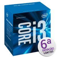P1151 Processador Intel CORE I3 6100 3.70GHz LGA1151 3MB - 6ª Geração