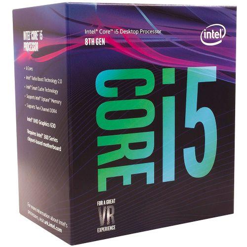 P1151-8 Processador Intel CORE I5 8400 2.8GHz 9MB Coffee Lake LGA1151 - 8a Geração  ** ESTE PROCESSADOR SÓ FUNCIONA COM PLACA MÃE SÉRIE 300