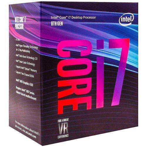 P1151-8 Processador Intel CORE I7 8700 3.20GHz 12MB Coffee Lake LGA1151 - 8a Geração  ** ESTE PROCESSADOR SÓ FUNCIONA COM PLACA MÃE SÉRIE 300