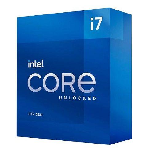 P1200-11 Processador Intel CORE I7 11700K 3.60GHz Rocket Lake LGA1200 (Sem Cooler) - 11ª Geração ** ESTE PROCESSADOR SÓ FUNCIONA COM PLACA MÃE SÉRIE 500