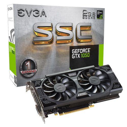 Placa de Video NVidia GeForce GT1050 2GB DDR5 SSC ACX 3.0 128bits EVGA - ( 1x DVI / 1x HDMI / 1x DisplayPort ) - 02G-P4-6154-KR