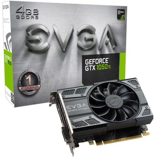 Placa de Video NVidia GeForce GT1050 Ti Gaming 4GB DDR5 128bits EVGA - ( 1x DVI / 1x HDMI / 1x DisplayPort ) - 04G-P4-6251-KR