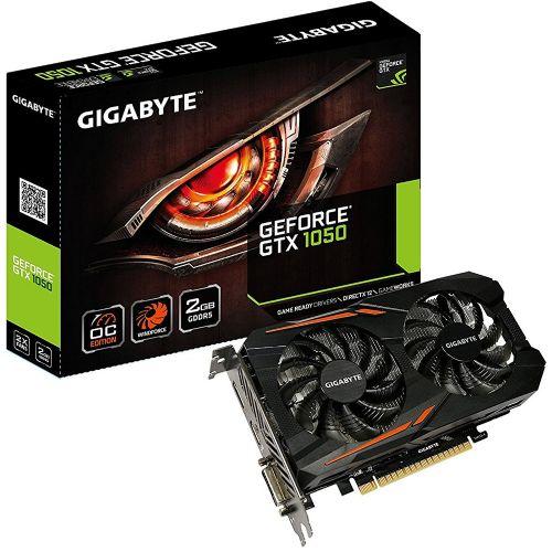 Placa de Video NVidia GeForce GTX 1050 2GB OC DDR5 128bits GIGABYTE - ( 1x DVI / 1x Display Port / 1x HDMI ) - GV-N1050OC-2GD