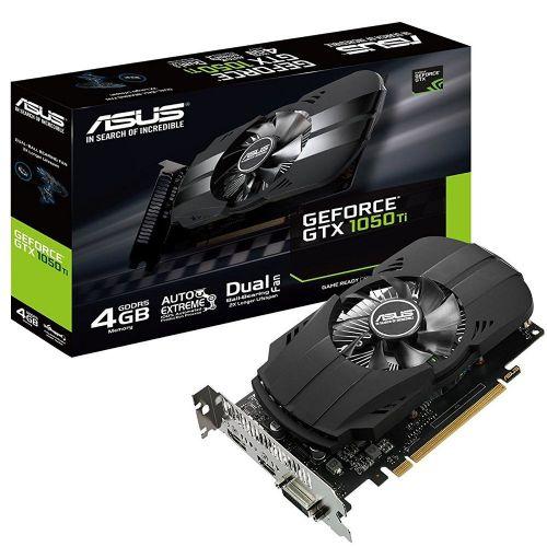 Placa de Video GeForce GTX1050Ti 4GB DDR5 128bits ASUS - ( 1x DVI / 1x HDMI / 1x Display Port) - PH-GTX1050TI-4G