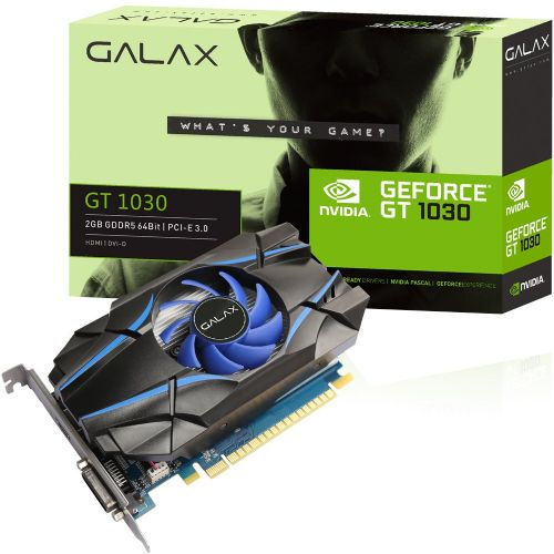 Placa de Video GeForce GTX1030 2GB DDR5 64bits GALAX - ( 1x DVI / 1x HDMI ) - 30NPH4HVQ4ST