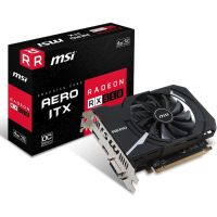 Placa de Video AMD Radeon RX 550 AERO ITX 4GB OC DDR5 128bits MSI - ( 1x DVI / 1x HDMI / 1x DisplayPort ) - 912-V809-2487