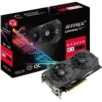 Placa de Video AMD Radeon RX 570 OC Gaming 4GB DDR5 256bits STRIX ASUS - ( 2x DVI / 1x HDMI / 1x DisplayPort) - ROG-STRIX-RX570-O4G-GAMING