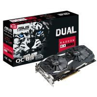 Placa de Video AMD Radeon RX 580 OC Edition 8GB DDR5 256bits Dual ASUS - ( 2x HDMI / 2x DisplayPort / 1x DVI) - DUAL-RX580-O8G
