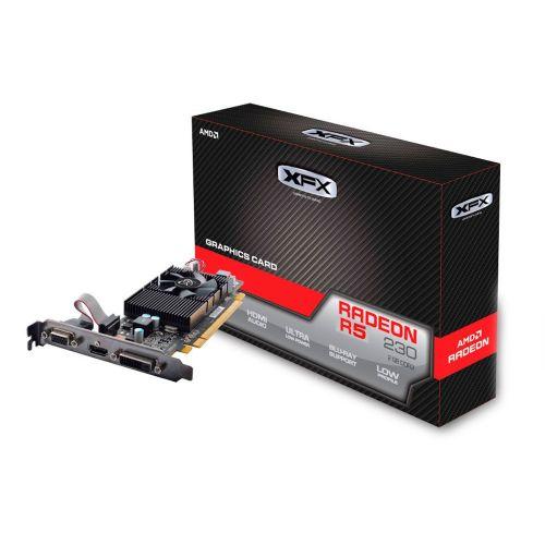 Placa de Video AMD Radeon R5 230 2GB DDR3 128bits XFX - ( 1x DVI / 1x HDMI / 1x VGA ) - R5-230A-CLF2