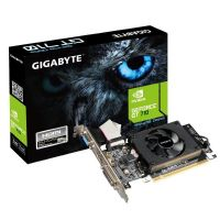 Placa de Video GeForce GT710 1GB DDR3 64bits GIGABYTE - ( 1x DVI / 1x VGA / 1x HDMI / Perfil Baixo ) - GV-N710D3-1GL REV2.0